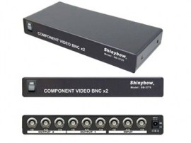 2 port component video distribution amplifier bnc
