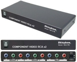 2 port component video distribution amplifier rca