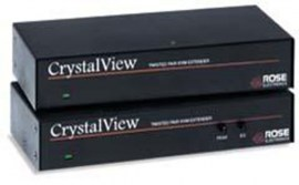 rose crystalview cat5 ps2 dual kvm kit local remote and power supply crk 2p