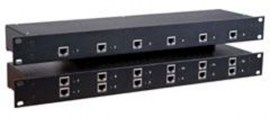 rose crystalview cat5 rack 1u rack mount chassis 6 dual local ports crv 6dlp