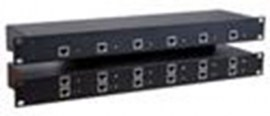 rose crystalview cat5 rack 1u rack mount chassis 6 single remote ports crv 6srp