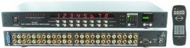 shinybow 8 in 8 out composite video matrix switch with volume control rackmount with rs232 infra red remote sb 8804