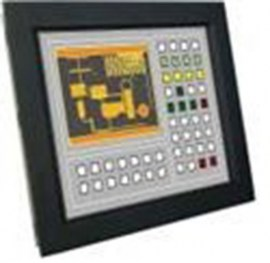 ultraview 15 panel mount lcd with nema4 ip 65 front protection resistive touch screen and serial controller