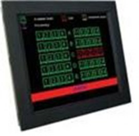 ultraview 17 panel mount lcd with nema4 ip 65 front protection capacitive touch screen and serial controller